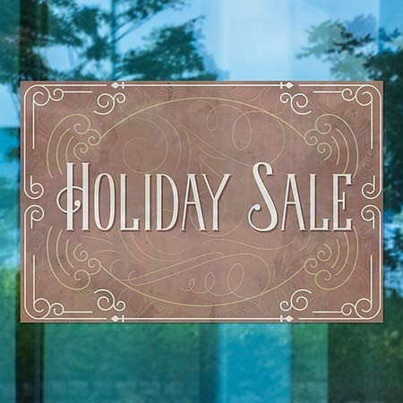 CGSignLab 18x12 Victorian Card Window Cling 5-Pack Holiday Sale