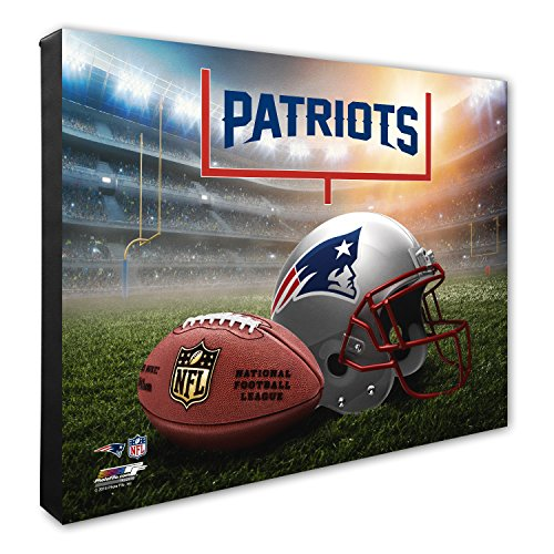 "Photo File NFL New England Patriots Helmet & Stadium High Resolution Canvas, 16"" x 20"", Multicolor from Photo File"