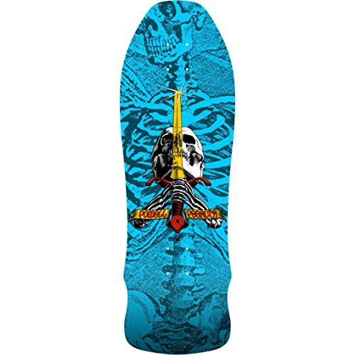 Powell-Peralta Skateboard Deck GEEGAH SKULL AND SWORD Blue 9.75'' x 30'' by Powell-Peralta