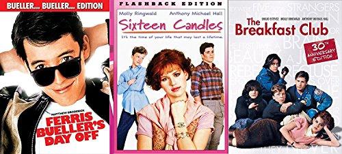 Sixteen Candles & Breakfast Club + Ferris Bueller's Day Off... Fun Comedy 80's High School Teen movie Set