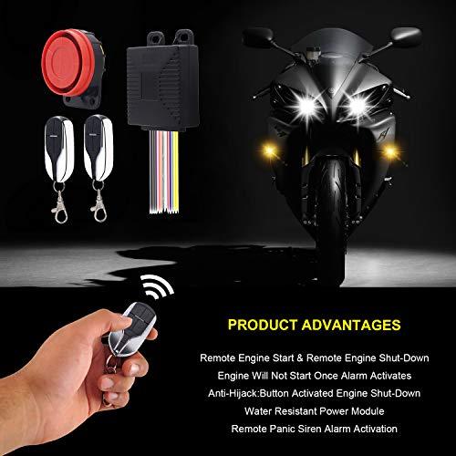 Bicicleta Sistema antirrobo para Moto Alarma antirrobo de Seguridad antirrobo con 2 mandos a Distancia para Moto BlueFire Universal