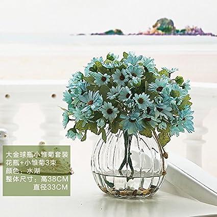 Beata T Artificiales Flores Traje Americano Grande Cristal