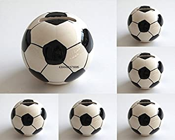 Themendeko - Hucha (7 cm, 6 Unidades), diseño de balón de fútbol ...