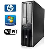 Workplace Computer: HP DC7800 SFF Desktop Pc Bundle - Amazing Intel Core 2 Duo @ 3.0ghz - New 1tb HDD w/ 2 Year Warranty- Loaded 4gb RAM - Windows 7 Professional 32-Bit - DUAL Monitor Support - WIFI Installed - Dvd-rom (From ReCircuit)