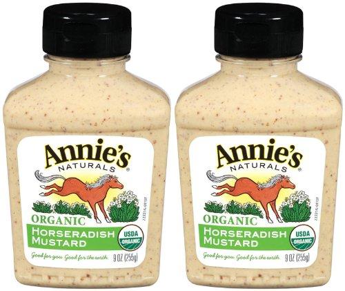Annie's Homegrown Organic Horseradish Mustard, 9 oz, 2 pk