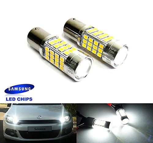 3 opinioni per 2x Luffy 380P21/5W 1157BAY15d Bulb Samsung Reverse girare indicatore luce di