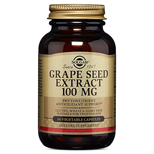Solgar – Grape Seed Extract, 100 mg, 60 Vegetable Capsules For Sale