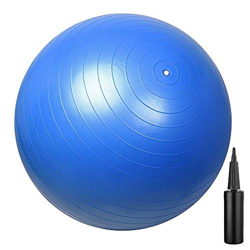 Daweier Anti-Burst & Slip Resistant Exercise Ball Professional Grade Color Dark Blue Diameter 65cm