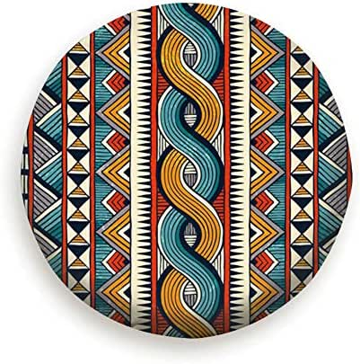 MAYUES Hand Drawn African Style Abstract Ethnic Spare Wheel tire Cover for Jeep Trailers Rvs Suvs Trucks and Many Vehicles(14 15 16 17 Inch)