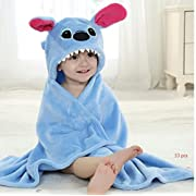 Lucid Land Baby Hooded Towel Blanket Robe and Washcloth - Premium Quality Stitch Towel for Boys and Girls - Soft and Suitable for All Toddlers and Infants
