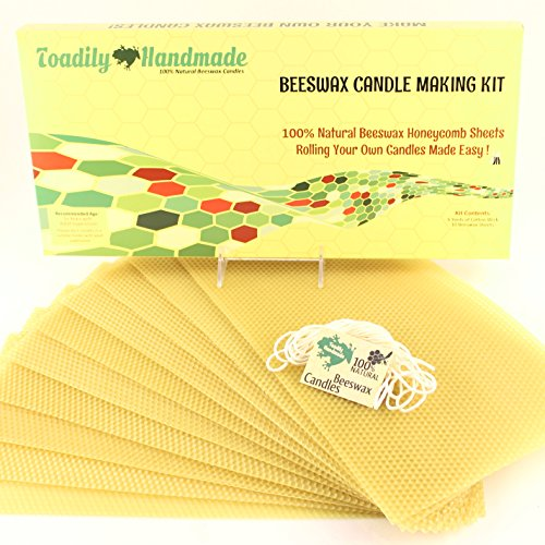 Make Your Own Beeswax Candle Kit - Includes 10 Ful big image