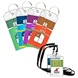 Cruise Luggage Tags 4 Pack Cruise Tags & 2 ID Badge Holder Zip Seal and Reusable Steel Loops