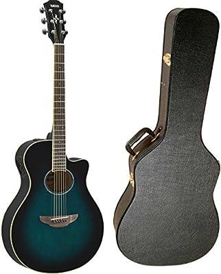 Yamaha apx600obb Thinline Electroacústica guitarra (Oriental azul Burst) con carcasa funda para guitarra