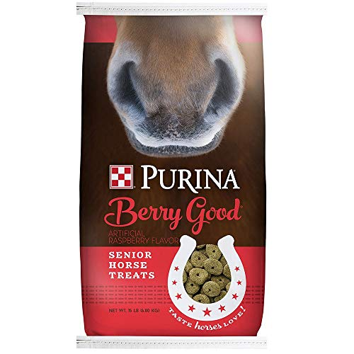 (Purina Animal Nutrition Purina Berry Good Senior Horse Treats 15lbs)
