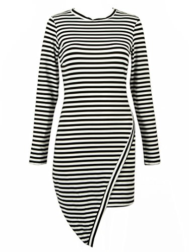 Choies Jersey Stripes Sleeve Bodycon