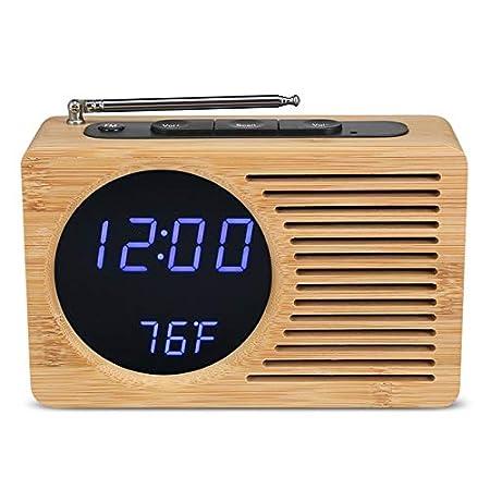 WUWANMEI Reloj Despertador de Radio FM Digital Led 12 Horas / 24 ...