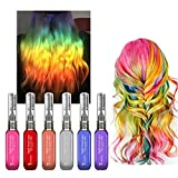temporary hair dye for kids - 6 Colors Temporary Hair Color Chalk Set- Efly Instantly Hair Dye Colorful Sticks For Kids Hair Dyeing Party and Cosplay