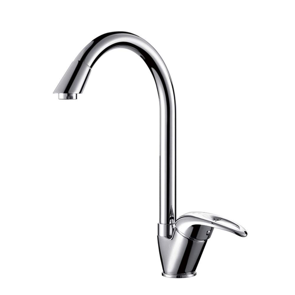 Magosca Copper-free Lead-free Kitchen Faucet Creative Simple 360 degree Hot And Cold Water Tap Hoses Single-Handle Kitchen Sink Mixer Tap Easy To Install