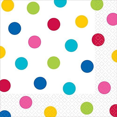 Rainbow Dots Luncheon Napkins (16ct) (Dots Luncheon Napkins)