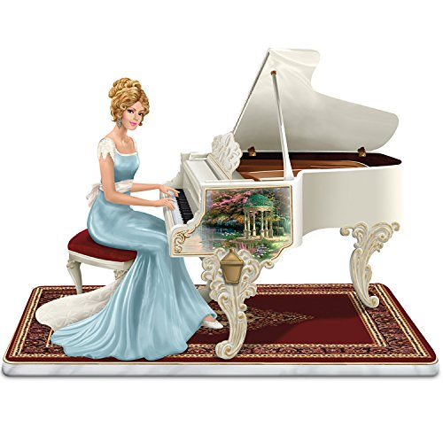 Thomas Kinkade A Musical Interlude Victorian Lady Figurine That Plays Beethoven's Fur Elise by The Hamilton Collection