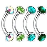 4Pcs 16g 6mm Curved Barbell Eyebrow Cartilage Rim Pinna Snug Bridge Earrings Anti - Best Reviews Guide