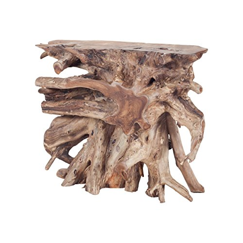 Dimond Home 7011-006 Natural Teak Slice Console, 36″ x 13″ x 31″