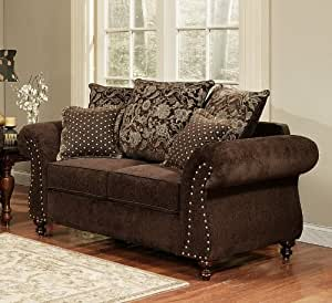 Amazon Com Loveseat Sofa Floral Throw Pillow Back In