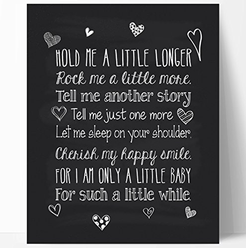 Quote Nursery Chalkboard Typography Print