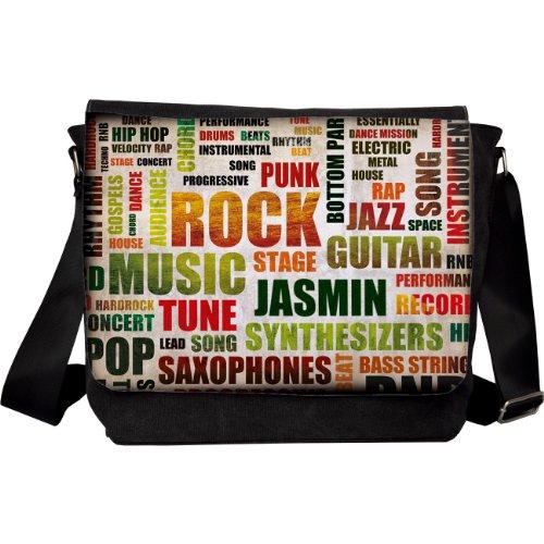 privatewear Umhängetasche Motiv Rockmusik mit Name: Jasmin