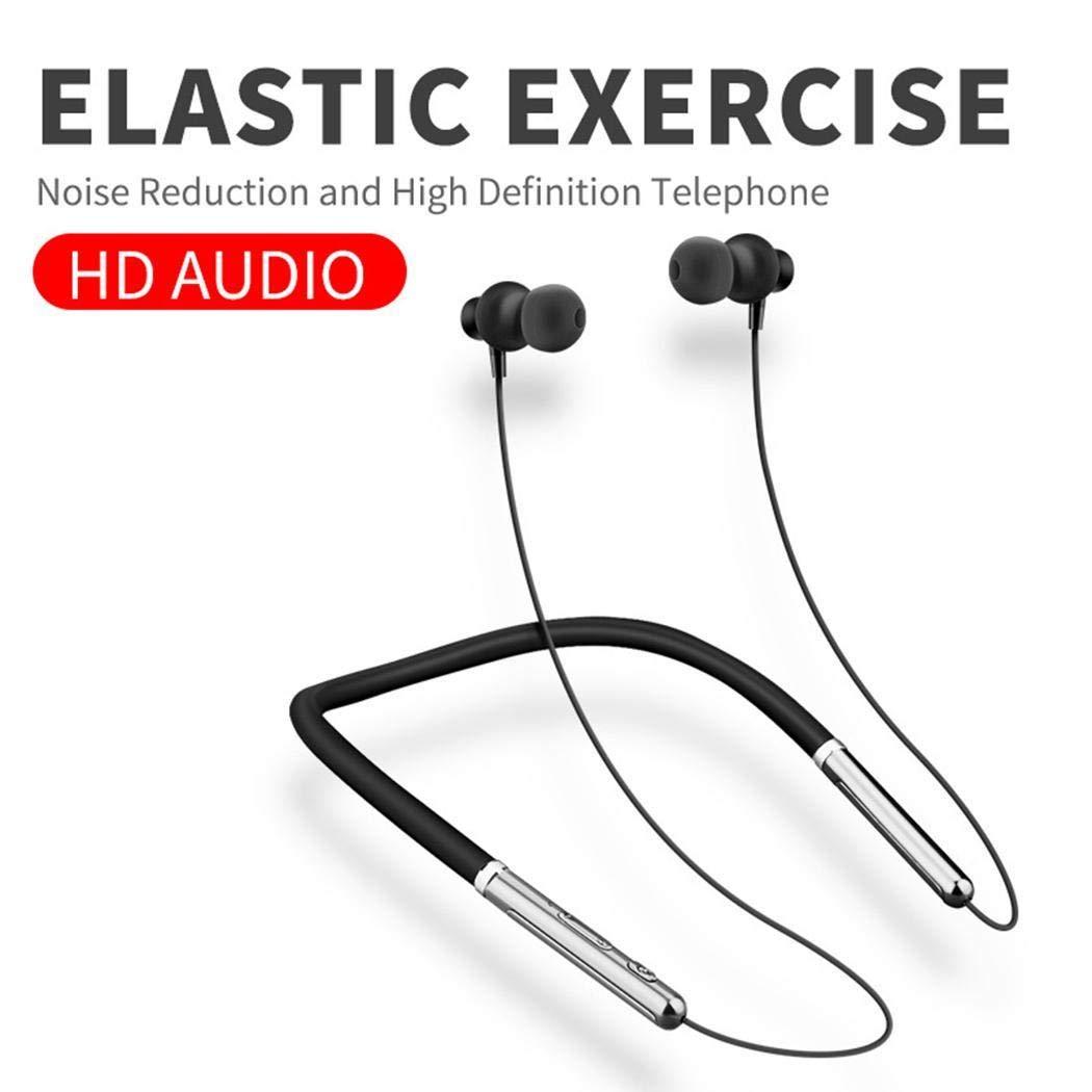 Fandazzie ワイヤレス Bluetooth ヘッドセット スポーツ ステレオ ネック ハンギング イヤホン Bluetooth ヘッドセット, LJAF039324_B@#@ B07PNPKTSK ブラック