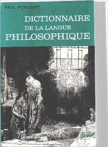 Livre gratuits en ligne Dictionnaire de la langue philosophique pdf