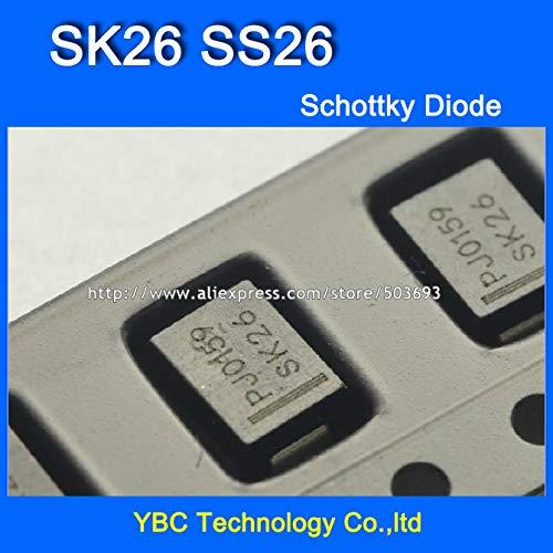 MAO YEYE 200pcs/lot SK26 SS26 SMB 2A/60V Schottky Diode