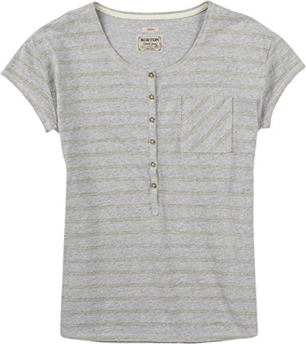 Burton Wb Salvador–Camiseta para mujer Gris Claro