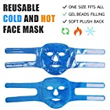 2pcs Gel Beads Face & Eye Masks Kit Hot/Cold Mask