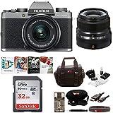 Fujifilm X-T100 Mirrorless Digital Camera with XC 15-45mm Len & XF 23mm Lens Kit (Dark Silver)
