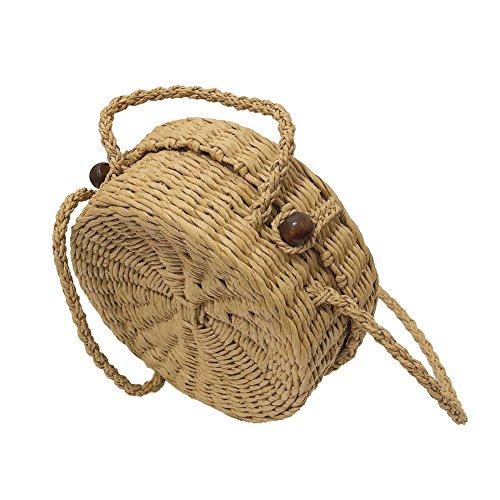 Shell a intrecciata a rattan Stageonline borse spiaggia borsa mano borsa da borsa da campeggio le erba maglia per signore TqYwv