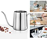 #8: Pour Over Coffee Tea Drip Pot, Stainless Steel Kettle with Gooseneck 12 Oz (350ml) by ForNeat, Long Narrow Spout Coffee Pot for Coffee Maker (Silver)