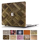 MacBook Air 12 Case, PapyHall 2 in 1 MacBook Air Protect Case Distinctive Wood Printing Plastic Hard Shell Cover Case for Apple MacBook Air 12 inch with Retina Display Model : A1534 (Wood-Woven)