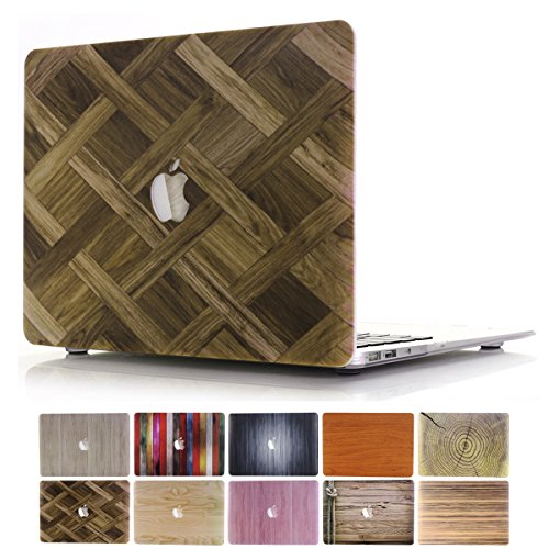 MacBook Air 12 Case, PapyHall 2 in 1 MacBook Air Protect Case Distinctive Wood Printing Plastic Hard Shell Cover Case for Apple MacBook Air 12 inch with Retina Display Model : A1534 (Wood-Woven) by PapyHall
