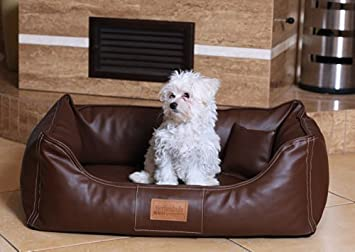 Cama Ortopédica para Perros Maddox Ortho Visco tierlando Cuero Sintético / Gamuza Cama para Perros Tamaño 80cm Marrón: Amazon.es: Productos para mascotas