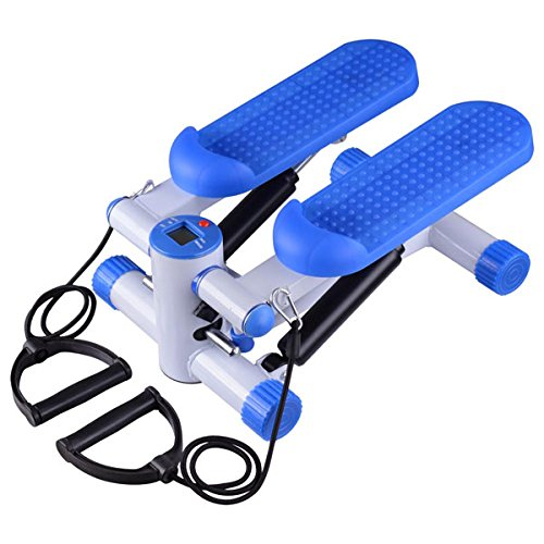 Aerobic Mini Twister Stair Stepper Exercise w/ Bands Blue