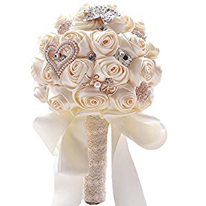 Jackcsale Wedding Bride Bridal Bouquet Brooch Bouquet Bridesmaid Valentine's Day Bouquet Confession 113