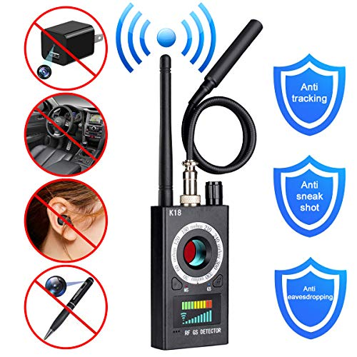 Anti Spy Camera Detector, RF Signal Bug Detector, BQYPOWER Wireless Signal Pinhole Laser Lens GSM Detector Ultra-high Sensitivity Full-Range Tracker Finder