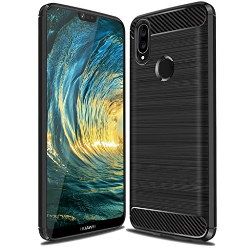 Huawei P20 Lite Case,Huawei Nova 3E Case, Suensan TPU Shock Absorption Technology Raised Bezels Protective Case Cover for Huawei P20 Lite smartphone -