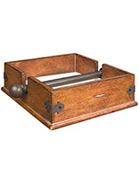 creative coop cg0232 square wood napkin holder with metal bar 95inch - Napkin Holders