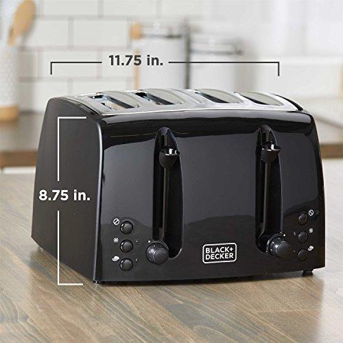 BLACK+DECKER 4-Slice Toaster, Extra-Wide, Black, TR1410BD by BLACK+DECKER (Image #6)