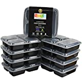 NimNik Kitchenette  Set of 10 Plastic Bento Lunch Box with Lids