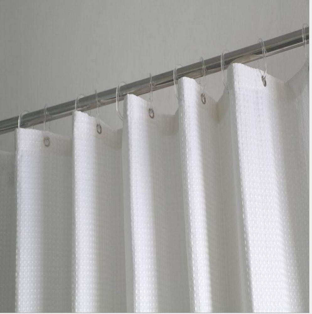 JaHGDU Shower Curtain 1pcs Shower Curtain Polyester Luxury Premium Hotel Thickened Waterproof Pure White Durable Partition Bathroom Curtain Super Quality Opaque Bathroom Amenities (Size : 180180cm)