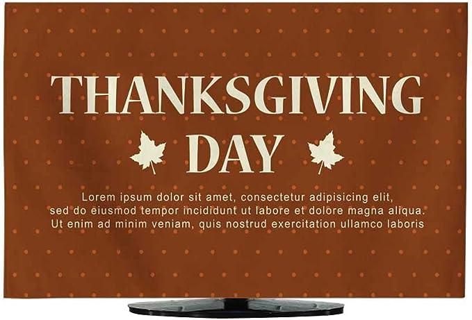 Funda de televisión para día de Acción de Gracias Vector diseño de Letras Dibujadas a Mano con Hojas de otoño: Amazon.es: Electrónica