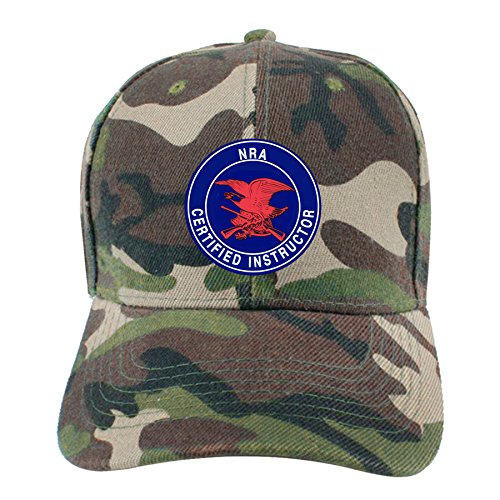 UCOOLE NRA Certified Instructor Camo Dad Hat Adjustable Denim Hat Classic Baseball Cap